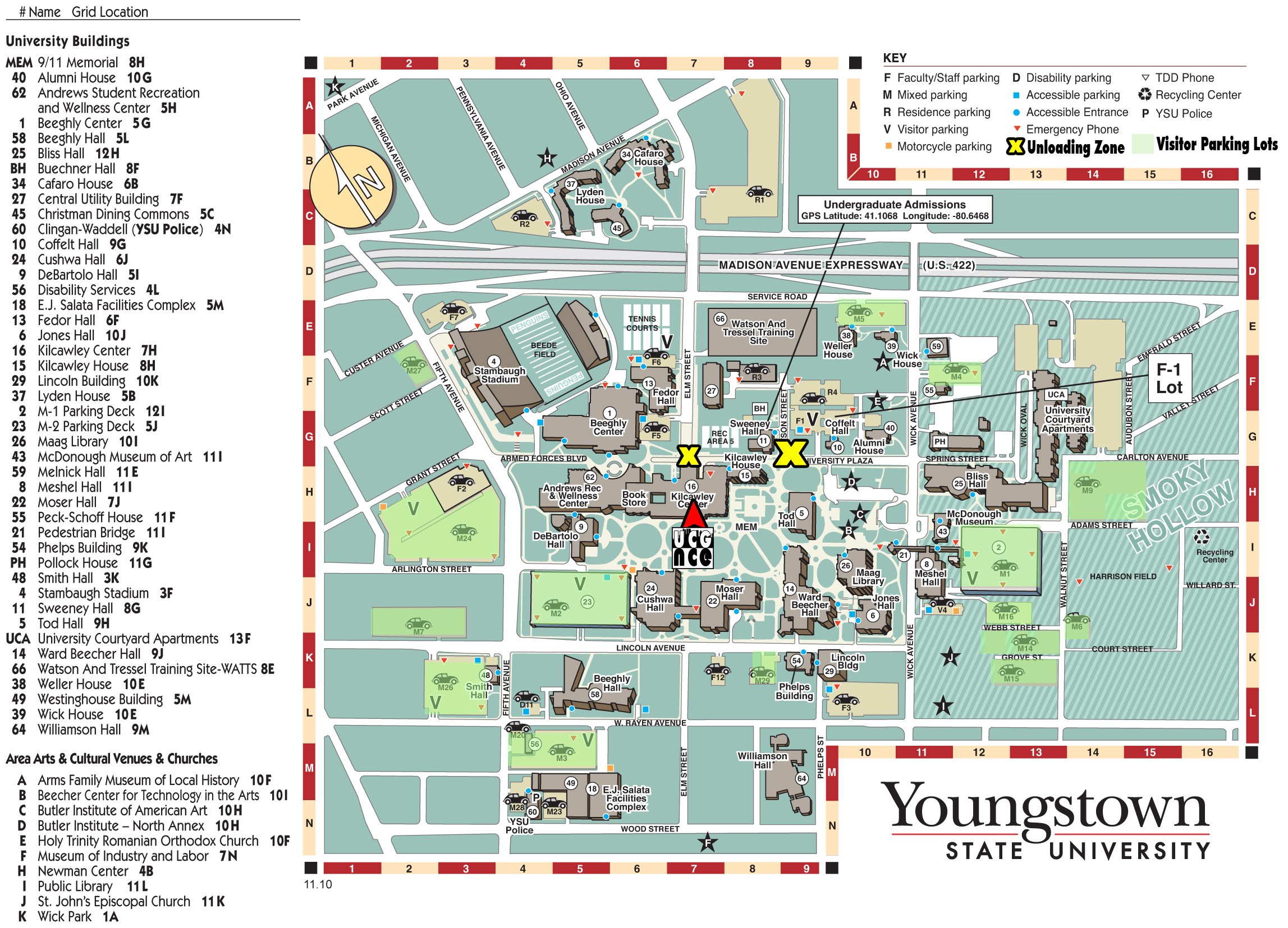 UnderCityGameFair Ysu Campus Map Detailed on